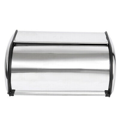 Stainless Steel Roll Top Bread Box for kitchen, bread storage And bread holder