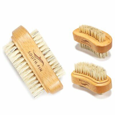 Double Sided Nail Art Bristle Brush Wooden Handle Manicure Pedicure Nail B E⊥