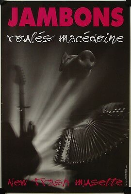 Affiche Groupe JAMBONS ROULES MACEDOINE New Trash Musette