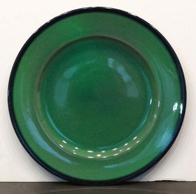1920's ANTIQUE Vintage ROOKWOOD POTTERY Green SIGNED Arts & Crafts DINNER PLATE