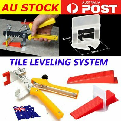 Tile Leveling System Clips Wedges Plier Spacer Tiling Tool Floor Wall 1.5 3mm S4