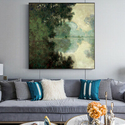 Morning Claude Monet Canvas Reproduction Painting Print Wall Art (UNFRAMED)