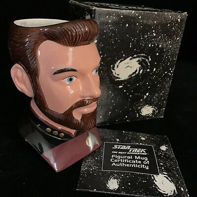 Star Trek Applause Collectable Figure Cups Mugs William Riker Boxed