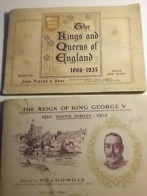 2 Full Cigarette Card Albums of 50. Kings & Queens, etc. G