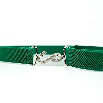 Child's Elastic Belt | Green Elasticated Kids Snake Belt | Handmade in UK