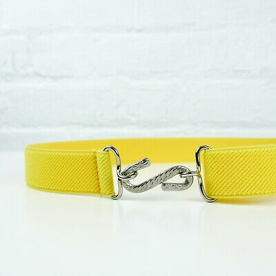 Child's Elastic Belt | Yellow Elasticated Kids Snake Belt | Handmade in UK