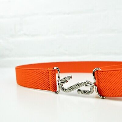 Child's Elastic Belt | Orange Elasticated Kids Snake Belt | Handmade in UK