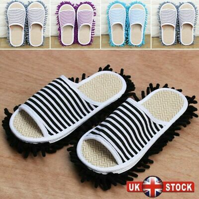 Mop Slippers Lazy Floor Foot Socks Shoes Quick Polishing Cleaning Dust UK