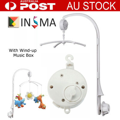 Baby Crib Mobile Bed Bell Arm Holder + Wind-up Music Box DIY Toy Christmas