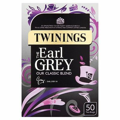 Twinings Earl Grey Tea Bags 4 Boxes Of 50 (200 Supplied )     Free Post