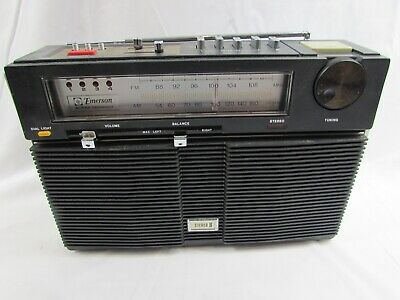 EMERSON Model TPX-55 Super Compact Stereo 8 AM/FM Portable 8 Track TUBE Radio
