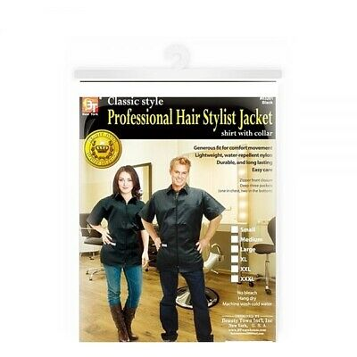 Professional Hair Stylist Jacket- Xl Black