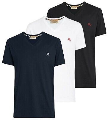 Burberry T-Shirt Herren Basic Shirt  V-Neck Classic Bosy Shirt  [ S - 2XL ]  NEU