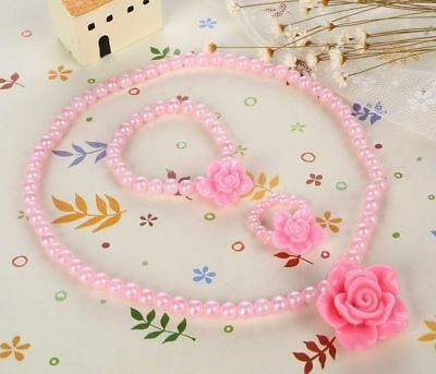 Girls Kids 3 Pcs Jewellery Set ***4 Designs To Choose From***