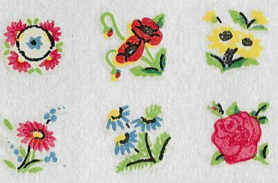 Craft Jewellery Transfer Decals Small 10 Poppy Poppies with ox-eye Daisies