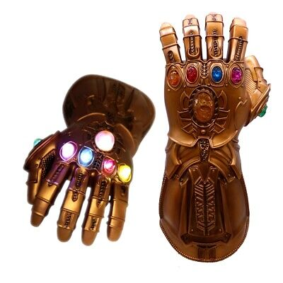 2019 Thanos Infinity Gauntlet LED Light Gloves Kids Avengers Cosplay Costume