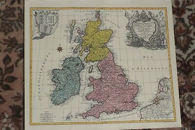 Antique, Rare, Old Lotter Great Britain Map