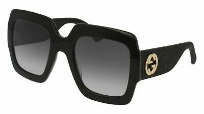 47181454f79 AUTHENTIC NEW GUCCI Sunglasses GG118S Crystals Black Bling Gray Lens ...