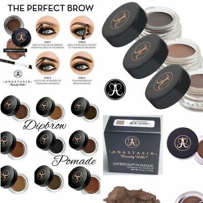 ❤️Anastasia Beverly Hills Dipbrow Eyebrow Pomade Makeup & #12 Angled Duo Brush ❤