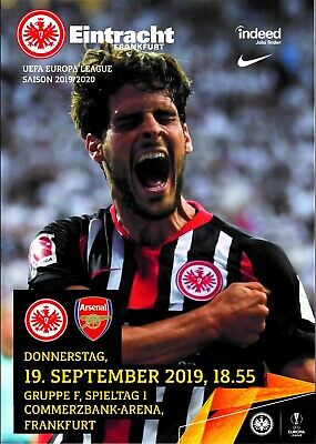 Programme Eintracht Frankfurt v Arsenal 2019 Europa League. Fan edition