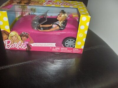 Brand New Barbie Convertible Car And Barbie Doll Set
