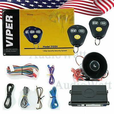 Viper 3100V Keyless System 3-Channel 1-Way Car Alarm Security System + 2 Remotes