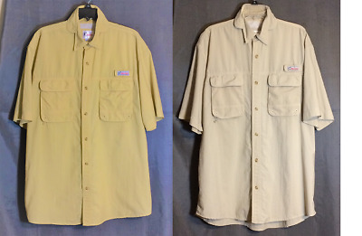 e018189c World Wide Sportsman Lot of 2 Vented Fishing Short Sleeve Shirts Size Large
