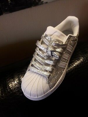 Shoes Adidas Superstar with Silver Glitter and Fucxia More' Mirrored Gold | eBay