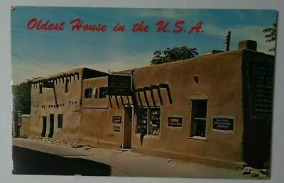 VTG OLDEST HOUSE in the US Santa Fe New Mexico NM Postcard