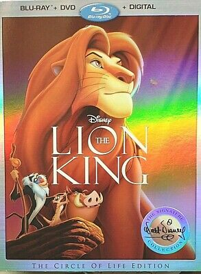 Lion King Signature Collection (Blu-Ray+DVD+Digital) Brand New