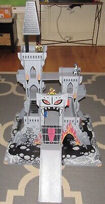 Step 2 Wooden Castle Playset Lot W Knights Horses Figures Wood Over