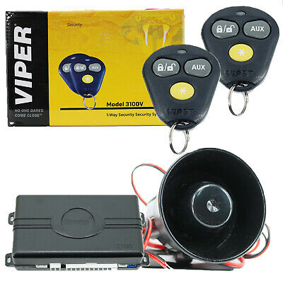 AVITAL 3100L Keyless Entry 4-Channel 1-Way Car Alarm Security System + 2 Remotes