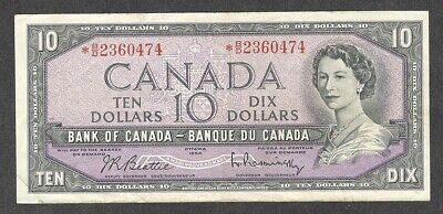 1954 *B/D $10.00 BC-40bA VF SCARCE & Nice ASTERISK REPLACEMENT NOTE Ten Dollars