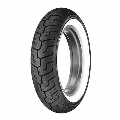 Dunlop D401 Rear Motorcycle Tire 150/80B-16 (71H) Wide White Wall for Yamaha