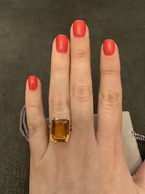 Tiffany & Co. Sterling Silver Sparklers Citrine  Ring Size 5,5