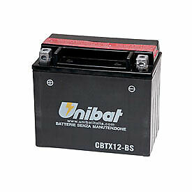 Unibat Maintenance-Free Battery with Acid CBTX12-BS for Triumph On-Off Road