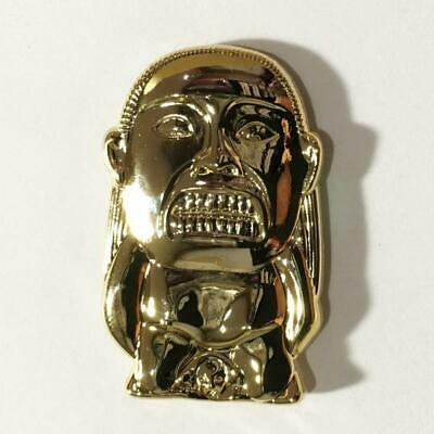 THE IDOL 3d Gold Metal Lapel Pin   Indiana Jones and the Raiders Of The Lost Ark