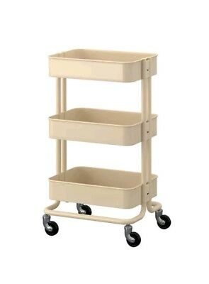 Utility Cart Rolling Organizer craft sewing paint Ikea 202.718.92 Beige New