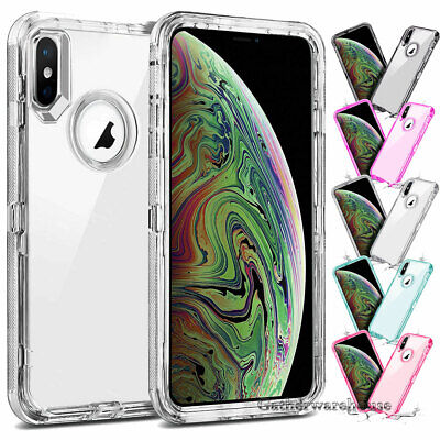 Hybrid Shockproof Heavy Duty Clear Case Fits In iPhone XS Max/XR/X/6/6s/7/8 Plus