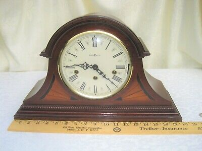 Howard Miller 613-192 Downing Tambour Mantel Clock Triple Chiming Key Winding