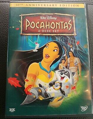 Pocahontas 10th Anniversary Edition 2-Disc DVD Set Genuine Disney MINT