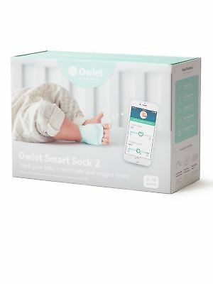 Owlet Smart Sock 2 Baby Heart Rate & Oxygen Level Health Monitor SEALED