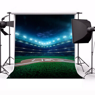 Football Field Sports Stadium Photography 6X6FT Backgrounds Photo Backdrop Props