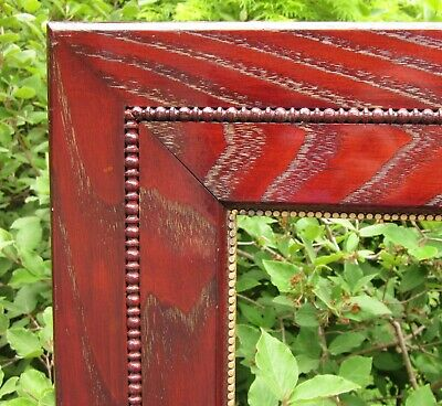 c1900 Outstanding Unusual Wide Blood Red Victorian Arts Crafts Chestnut Frame