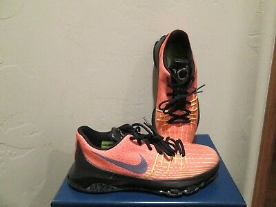 low priced 277bb cf1b1 NIKE KD 8 Viii Youth Kids 'hunts Hill Sunrise' Basketball Shoes Sz 7Y New