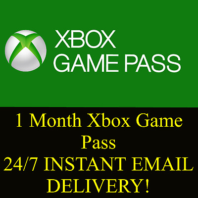 1 month Xbox One Game Pass -New Accounts Only -Email Delivery-Not Xbox Live