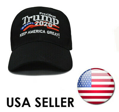 Donald Trump 2020 Keep America Great Cap President Election Hat Black USA jc