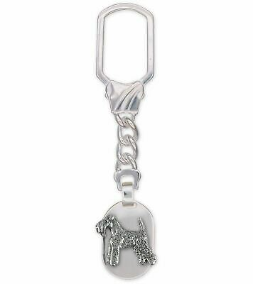 Kerry Blue Terrier Jewelry Sterling Silver Handmade Kerry Blue Terrier Key Ring