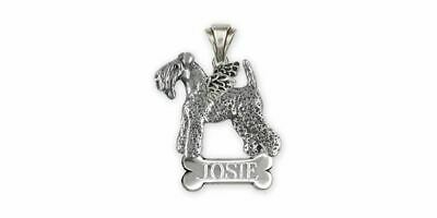 Kerry Blue Terrier Angel Jewelry Sterling Silver Handmade Kerry Blue Terrier Pen