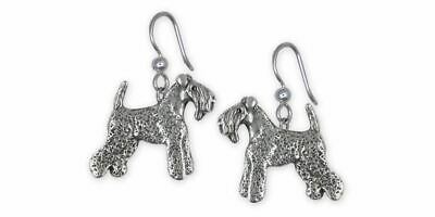 Kerry Blue Terrier Jewelry Sterling Silver Handmade Kerry Blue Terrier Earrings